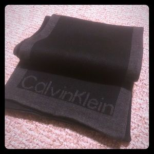 Black/Grey Calvin Klein Scarf